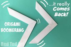 Origami Boomerang that Comes Back