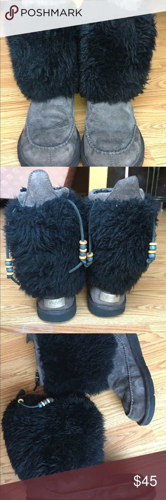 Ugg Indian boots. Ugg Indian boots. Color is gray with black. Good condition. Additional listing with more pictures. Price is firm. UGG Shoes Winter & Rain Boots