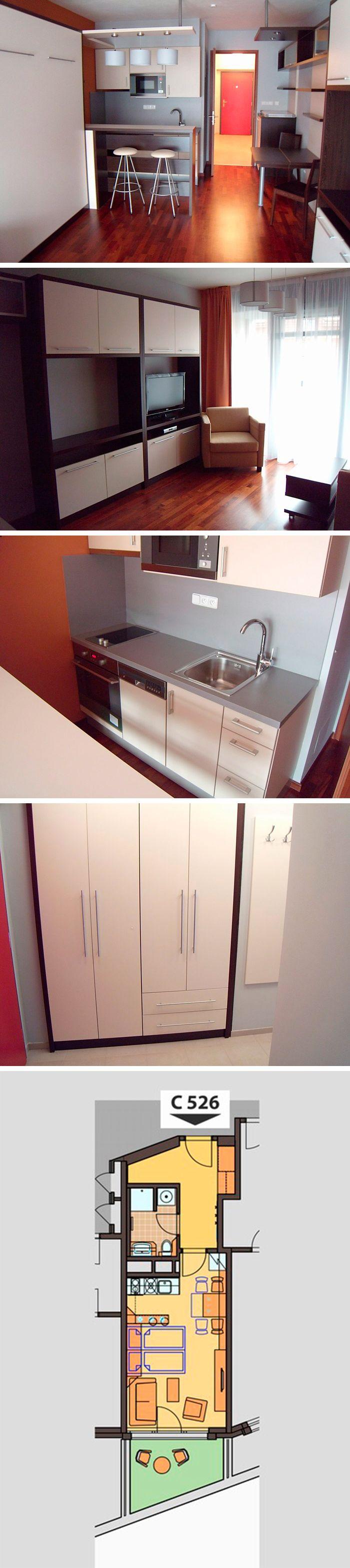 C.526 apartment for rent in Prague: dispozition: 1+kk, floor: 2, balcony, total: 39.7 m2.  Albertov Rental Apartments, Horská 2107/2d, Praha 2. Reception: +420 602 22 66 33, reception@albertov.eu, www.albertov.eu