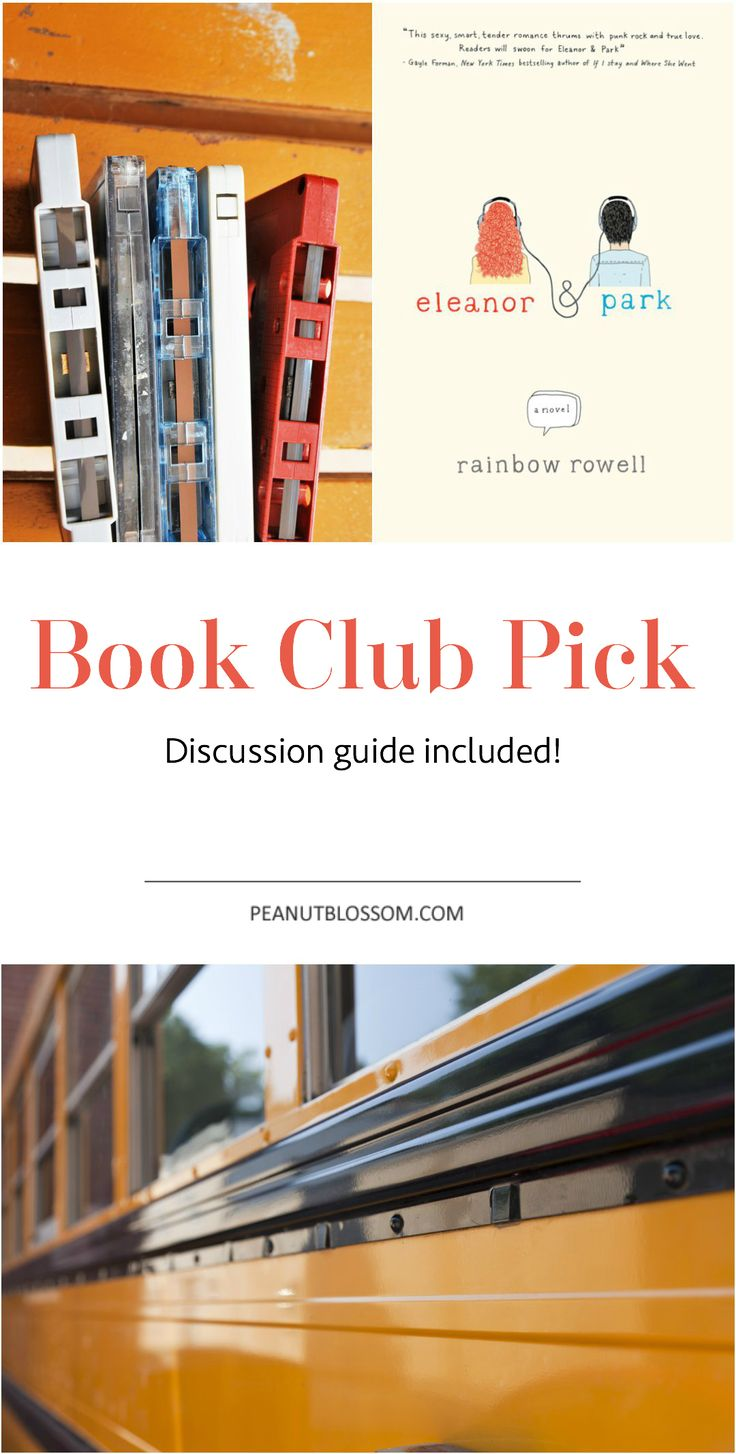 Excellent choice for your next book club selection. Pick Eleanor and Park and check out the full discussion guide included! You'll be set to host the best book club ever.