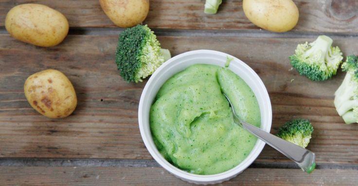 Godt i gang med skemad. Opskrift på sund babymad - grøntsagsmos med kartoffel og broccoli