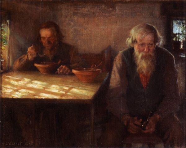 Day of Rest 1889,ALBERT GUSTAF ARISTIDES EDELFELT (1854-1905) - Lepopäivä