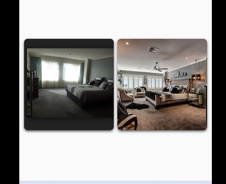My boudoir before and after shot
