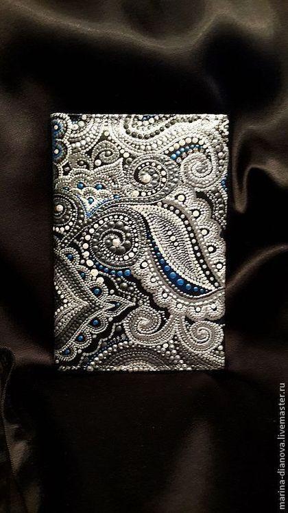 """Обложки ручной работы. Ярмарка Мастеров - ручная работа Обложка """"Русское серебро"""". Handmade."""