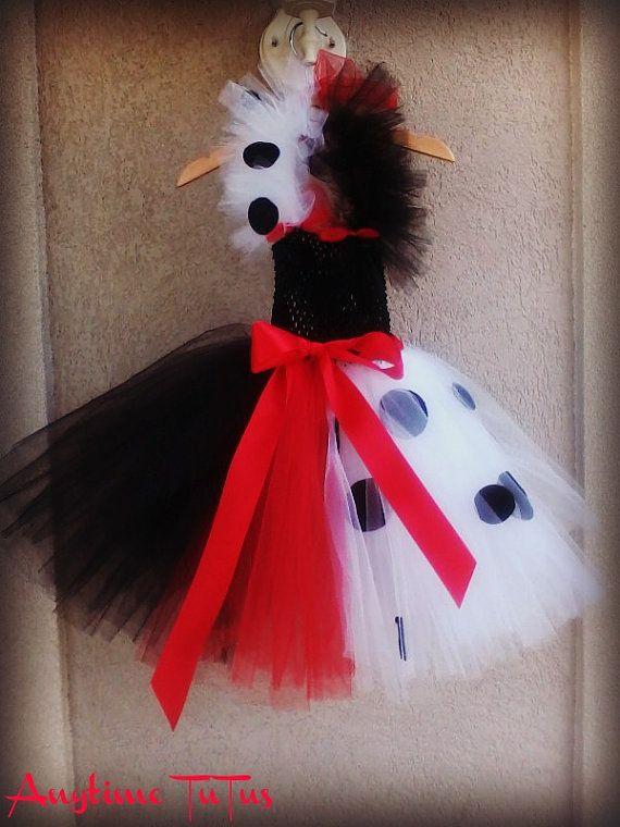 Cruella De Vil Inspired TuTu Dress - 101 DALMATIONS