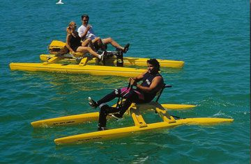 Sea-Cycle & Water Bike:  FUN, FAST, SAFE & EASY! Paddle Pedal Boat