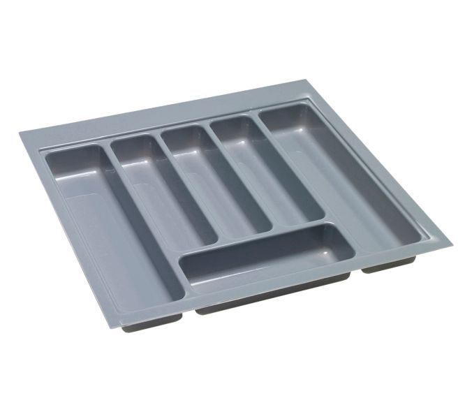 B&Q Grey Stainless Steel Effect Plastic Kitchen Utensil Tray   Departments   DIY at B&Q