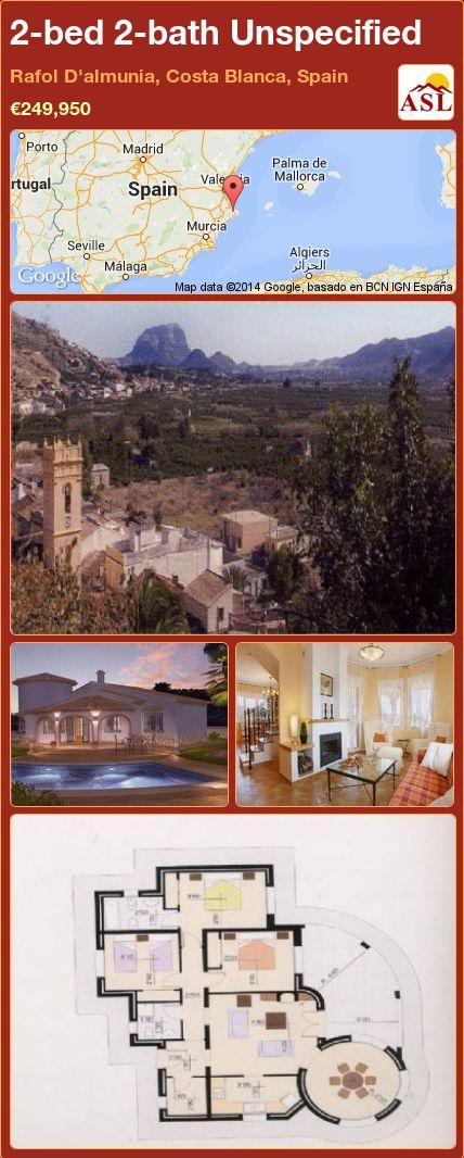 2-bed 2-bath Unspecified in Rafol D'almunia, Costa Blanca, Spain ►€249,950 #PropertyForSaleInSpain