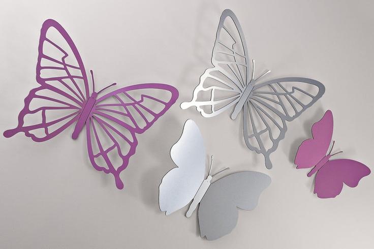 #HeineShoppingliste Wand-Deko Schmetterling in flieder oder silberfarben