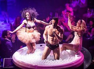 Blanc de Blanc is part Cirque de Soleil part Burlesque bare flesh part Champagne with a touch of Baz Luhrmann. From September 2 @brisbanefestival Magic Mirrors Spiegeltent. How do you like your bubbles? #brisfest #champagne #burlesque #acrobatics #bubbles #theatre #spiegeltent