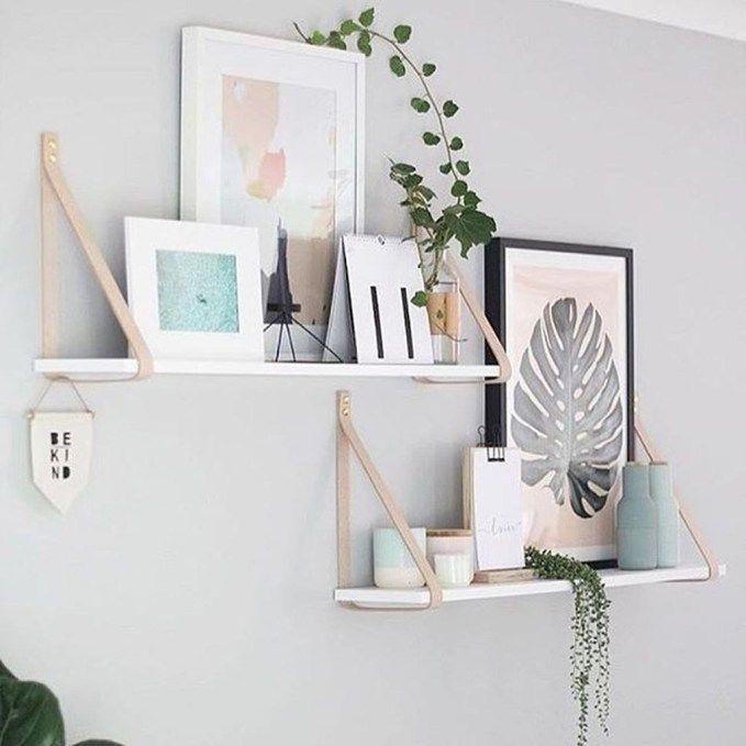 20 Lovely Scandinavian Decor Room Ideas To Copy Right Now In 2020 Floating Shelves Bedroom Home Decor Floating Shelves