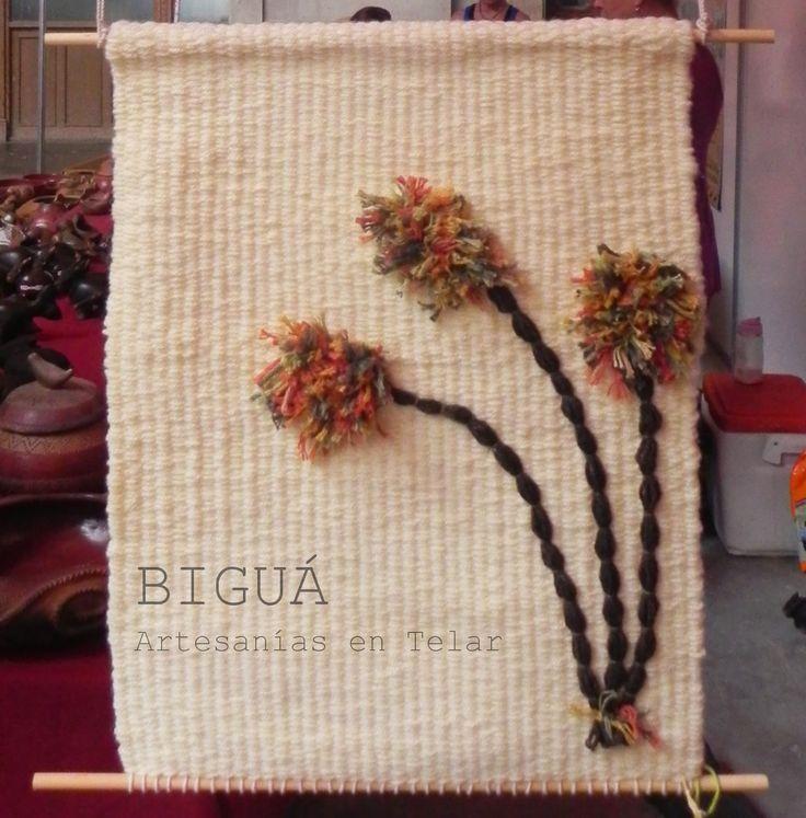 Nuevo diseño de tapices: flores para alegrar tu casa #Telar #Biguá
