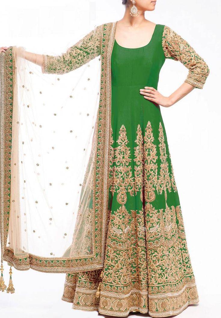 Buy Designer Anarkali Suit from  Mirraw.com