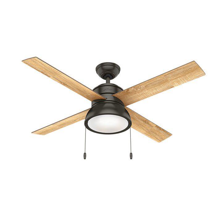 Hunter Fan 52 Loki 4 Blade Led Ceiling Fan Light Kit Included Wayfair Ceiling Fan Ceiling Fan Light Kit Fan Light Kits