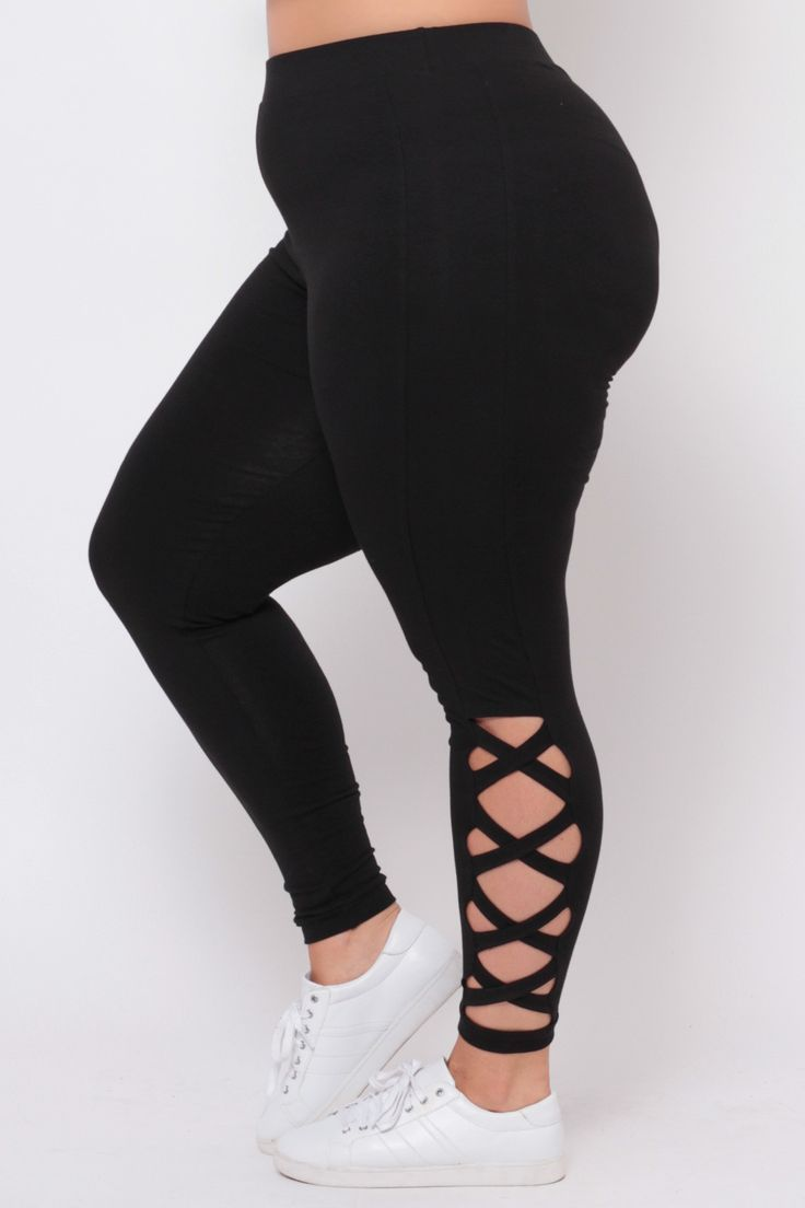 4dbb353439d54 Plus Size Piyo Girl Leggings - Black - Sale! Up to 75% OFF! Shop at Stylizio  for women's and men's designer handbags, luxury sunglasses, watches,  jewelry, ...