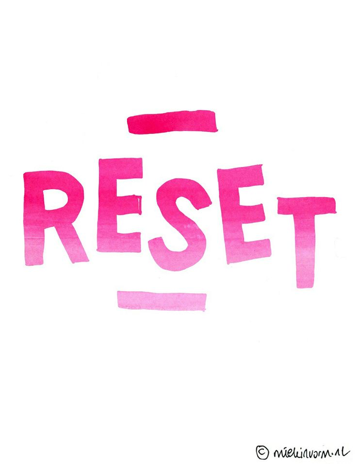 It would be nice to just be able to hit the reset button.