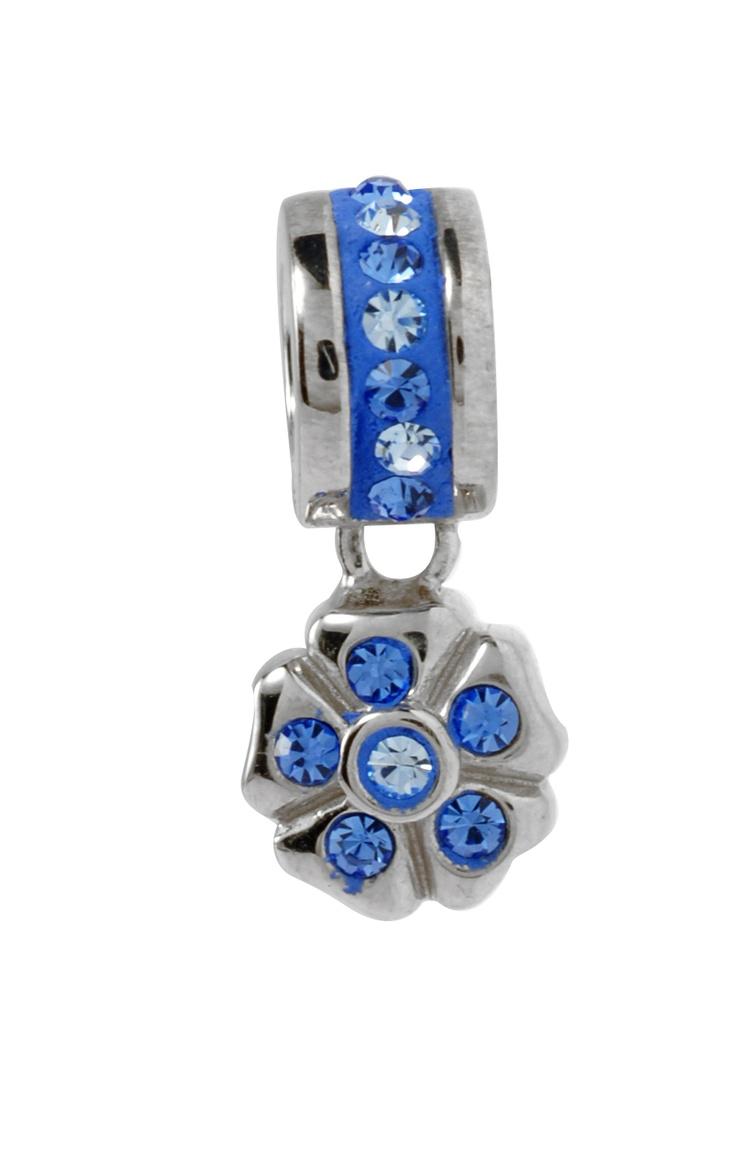 Amore & Baci blue Swarovski charm