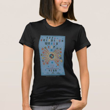 Quidditch World Cup Blue Poster T-Shirt - click/tap to personalize and buy