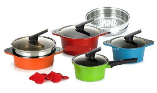 Happycall 8 piece Cookware Pot Set Kitchen Aluminum,ceramic coating Happy call
