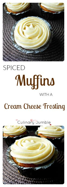 Delicious muffins made with courgettes and less fat than regular cakes, lightly spiced and topped with rich cream cheese frosting