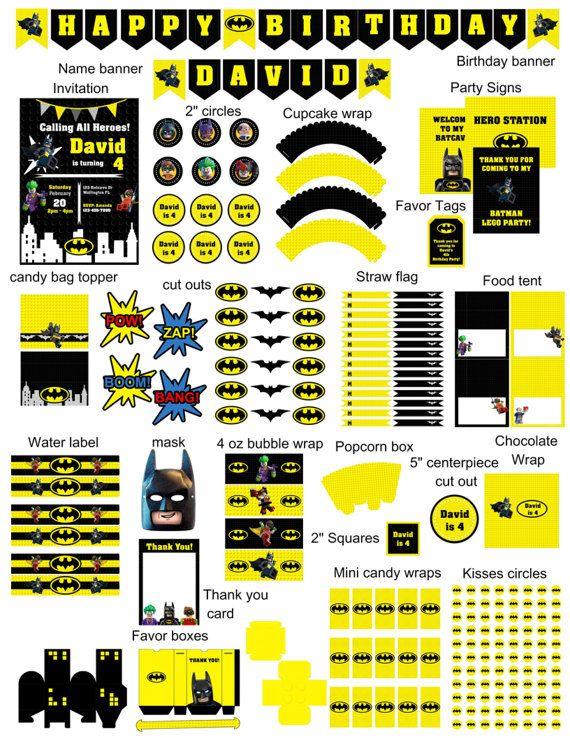 Batman Birthday Party Lego Batman BirthdayBatman