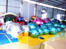 1.5m Silver Inflatable Ballon Outdoor Durable PVC Wedding Stage Christmas Decoration Large Inflatable Mirror Ball //Price: $US $300.00 & FREE Shipping //     #festive #party #birthdayparty #christmas #wedding decoration #event