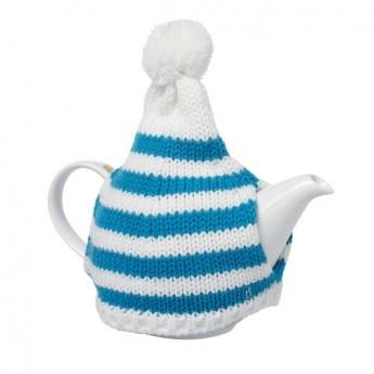 Pom Pom Stripey Tea Cosy
