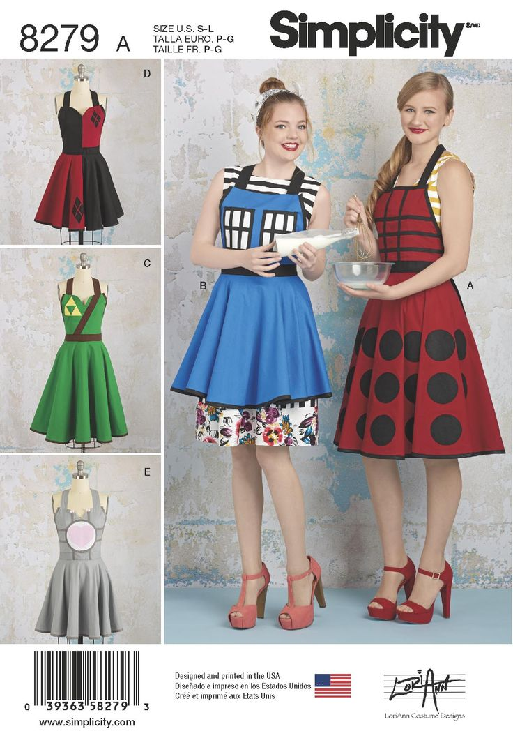 New geeky sewing patterns by LoriAnn Costume Designs coming to Simplicity