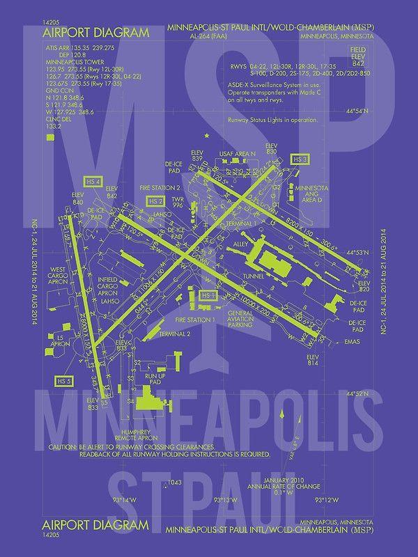 MSP Minneapolis Saint Paul Airport Diagram u0027 174