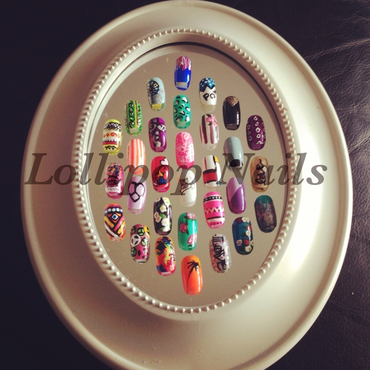 8 best nail art display ideas images on pinterest display ideas lollipop nails nail art display ready for new beauty room prinsesfo Image collections