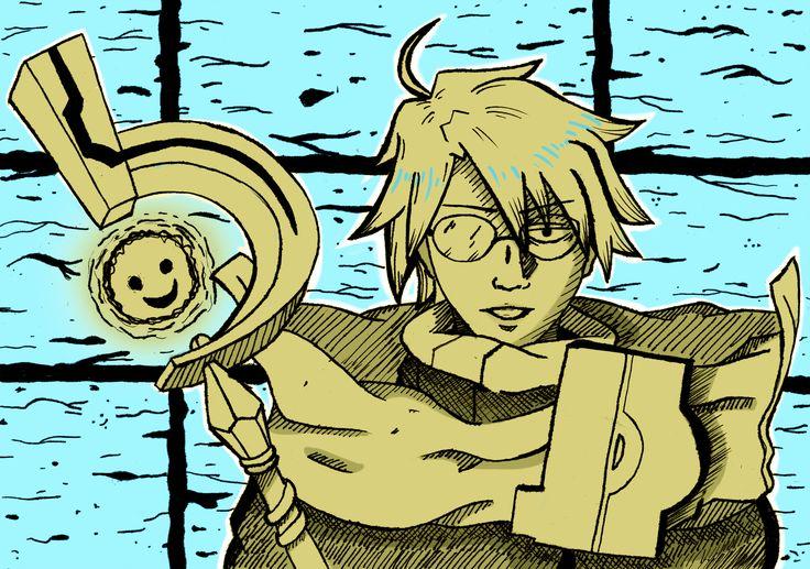 A fanart of shiroe, aka the villain in glasses from log horizon.