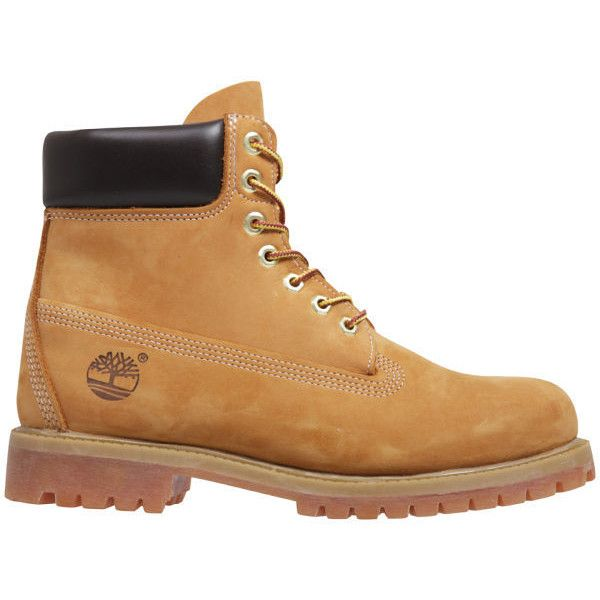 Timberland Men's Icon 6 Inch Premium FTB Leather Boots - Wheat (675 BRL) ❤ liked on Polyvore featuring men's fashion, men's shoes, men's boots, men's work boots, boots, men, shoes, tan, mens waterproof leather boots and mens leather boots
