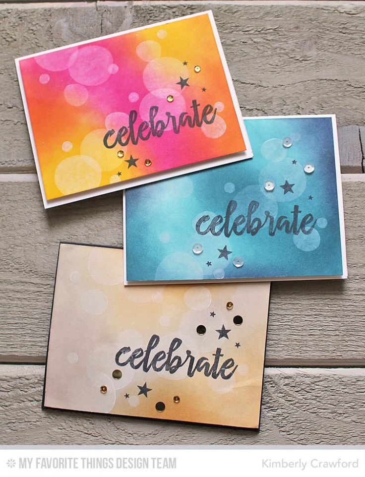 Handmade cards from Kimberly Crawford featuring Brushstroke Birthday stamp set.