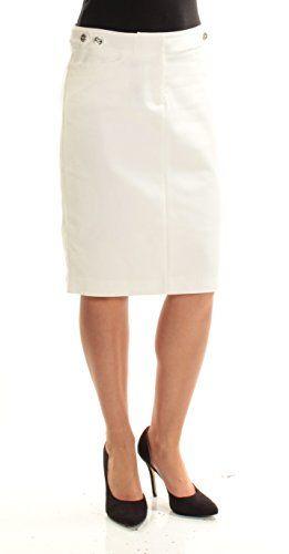 14835f8cf5 Tommy Hilfiger 69 Womens New 1608 Ivory Below The Knee Pencil Skirt 2 BB