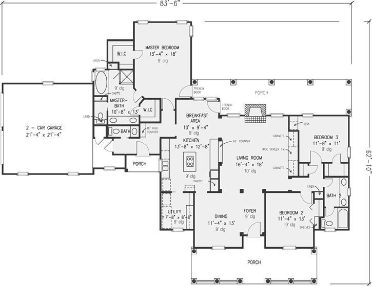 Best 25 country style house plans ideas on pinterest for Completely open floor plans