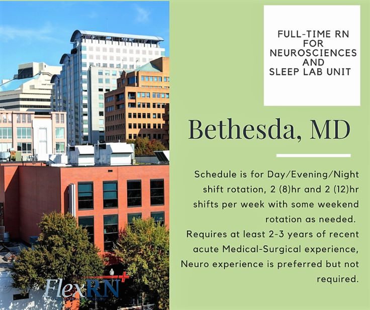 We Have a Neurosciences and Sleep Lab Unit Looking for a Full-Time #RN in #Maryland: