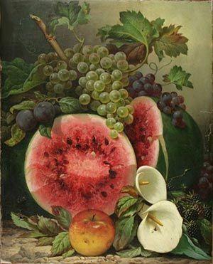 Сфера увлечений. Набор для вышивания `натюрморт с арбузом` (Уильям Мейсон Браун). Still Life with Watermelon. William Mason Brown. (Набор)