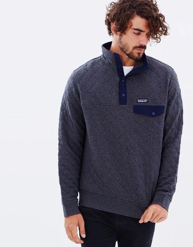 Men's Cotton Quilt Snap-T P/O.