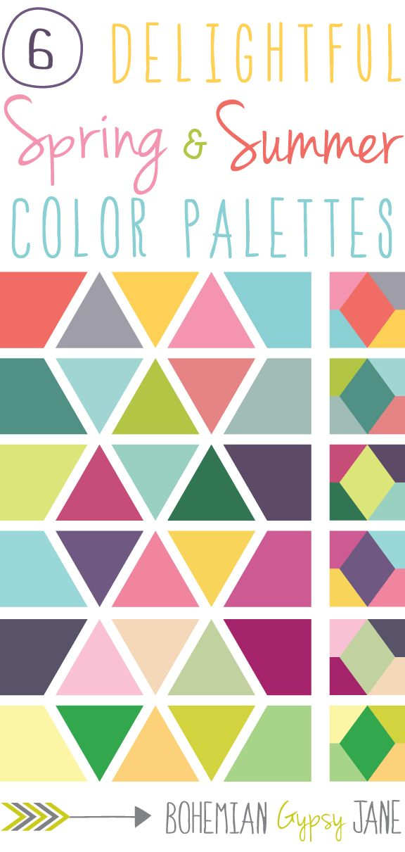 6 Delightful Spring & Summer Color Palettes