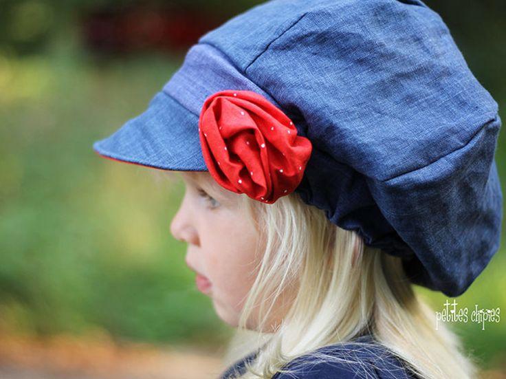 DIY-Anleitung: Kinder-Ballonmütze mit Schirm nähen / diy sewing pattern for a baker's boy cap via DaWanda.com