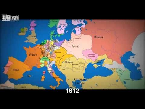Watch 1000 Years of European Borders Change In 3 Minutes