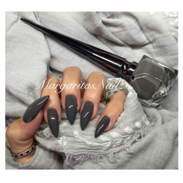 Grey Louboutin Stilettos  @MargaritasNailz