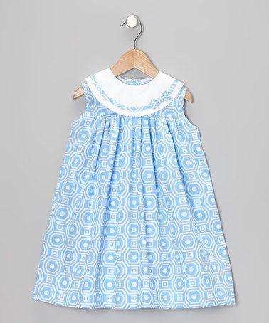 Look at this #zulilyfind! Blue Pique Float Dress - Infant & Toddler by Monday's Child #zulilyfinds