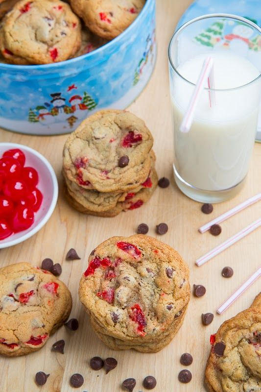 Maraschino Cherry Chocolate Chip Cookies - oh num!!!
