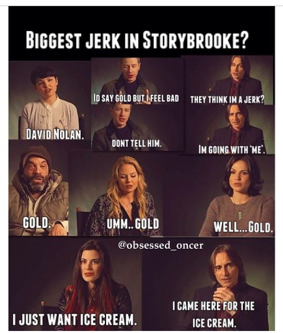 Mr. Gold- biggest jerk in storybrooke. Have to agree with Ginny here, David Nolan was a dick