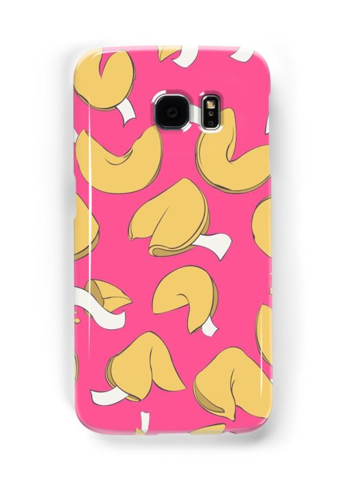 Fortune (cookie) Pattern Samsung Galaxy phone Cases & skins by AnMGoug on Redbubble. #cookie #pattern #samsung #phone