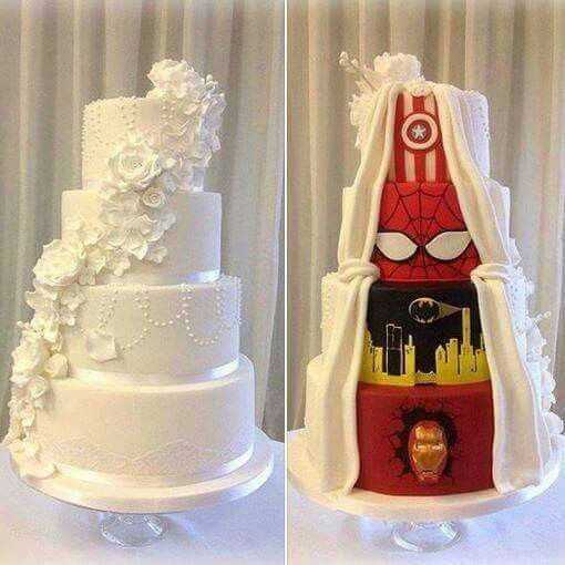 My wedding cake. The end. Lol.. you can remove batman tho