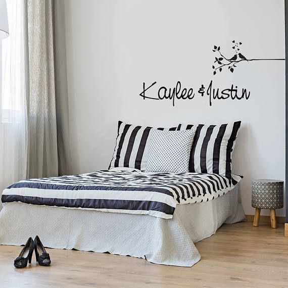 Personalized Name Wall Decal Custom Wall Sticker Personalized Wall Art Decal Couple Wall Bedroom Wall Decal Wall Mural Bedroom Decor