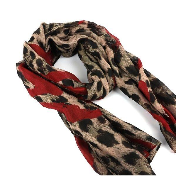 Autumn Winter Scarves Silk Shawl Wrap Warm Tippet Leopard Print Lady Soft Scarfs