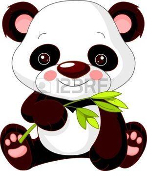 safari bebe: Diversión zoológico. Ilustración de la panda linda